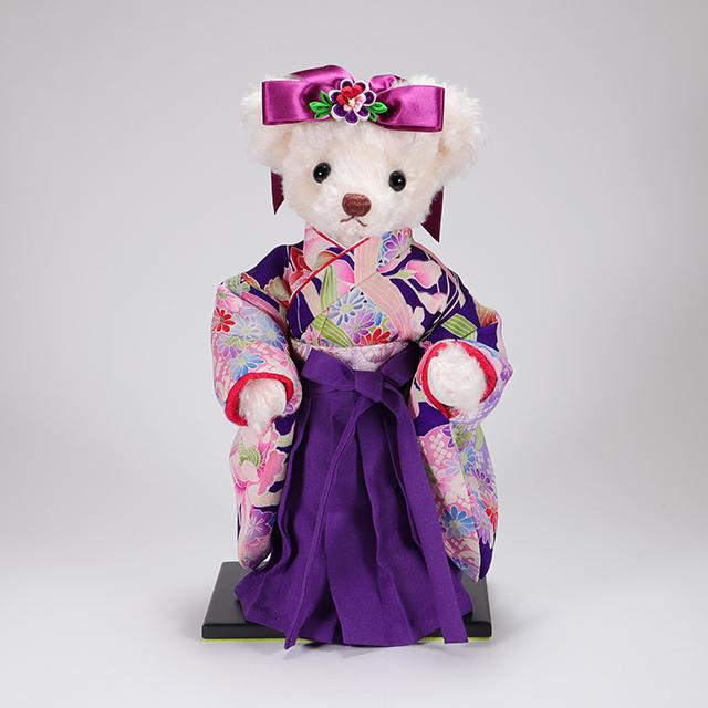 カドリーブラウンオリジナルモヘア 袴ベア Akari 「菊花」