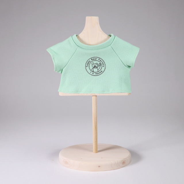 テディベア・ファクトリー ロゴ入りオリジナルTシャツ ミント