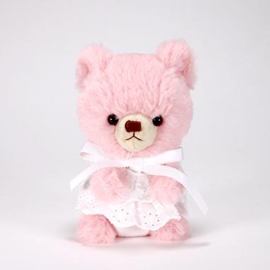 pom pom Bear メロディ ピンク ホワイトレース