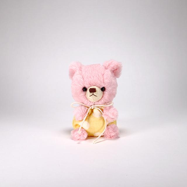 pom pom Bear メロディ ピンク イエロー水玉