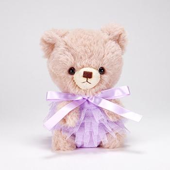 pom pom Bear メロディ ブラウン チュチュ パープル