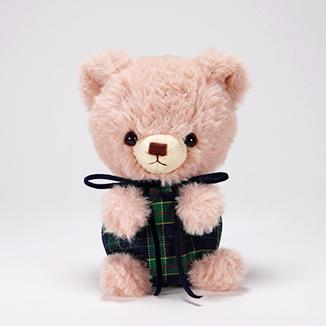 pom pom Bear メロディ ブラウン グリーンチェック