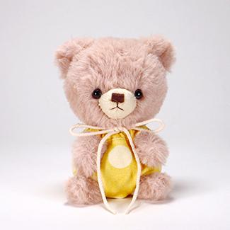 pom pom Bear メロディ ブラウン イエロー水玉