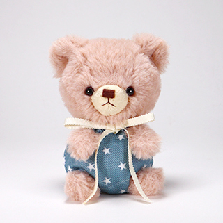 pom pom Bear メロディ ブラウン デニムスター