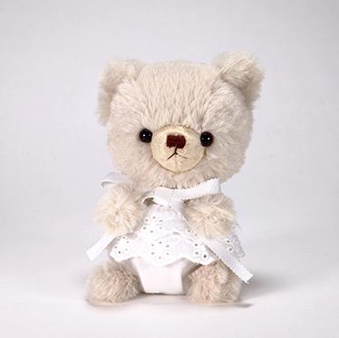 pom pom Bear メロディ ベージュ ホワイトレース