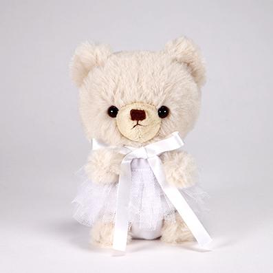 pom pom Bear メロディ ベージュ チュチュ ホワイト