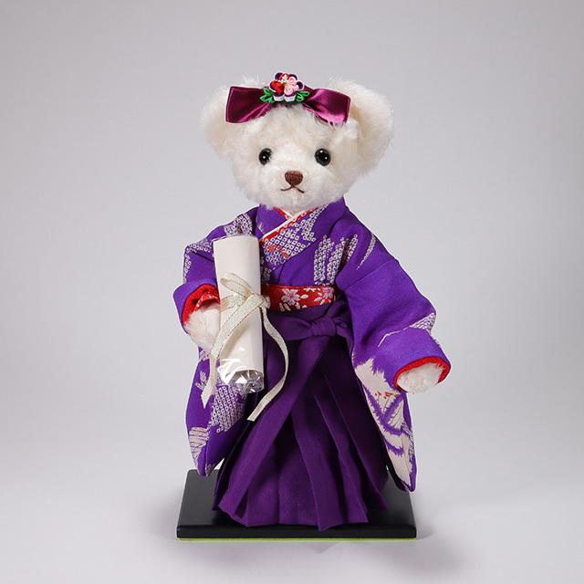 カドリーブラウンオリジナルモヘア 袴ベア Akari 「江戸紫」