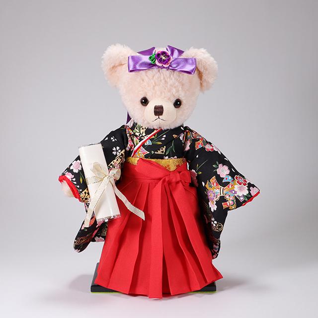 カドリーブラウンオリジナル メロディ袴ベア 「夜桜」