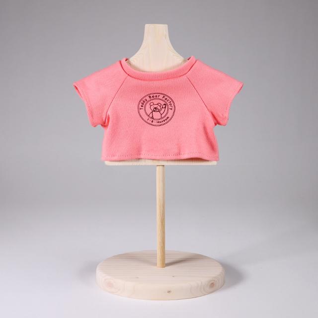 テディベア・ファクトリー ロゴ入りオリジナルTシャツ ピンク