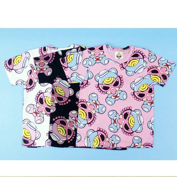 【2019春夏  HYSTERIC MINI】ヒステリックミニSAILOR TEDDY MINI総柄ゆったりTシャツ(80cm)