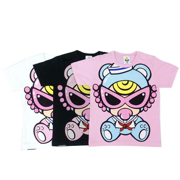 【2019春夏  HYSTERIC MINI】ヒステリックミニ セーラーTEDDY MINIゆったりTシャツ(90cm)