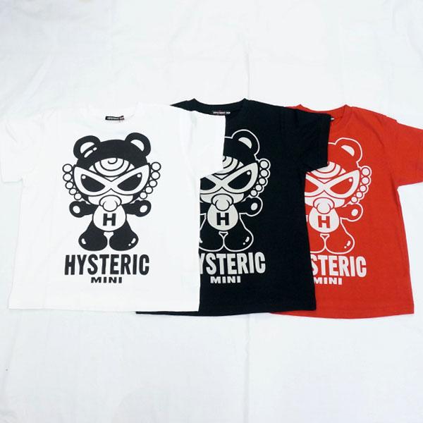 【2018春夏  HYSTERIC MINI】ヒステリックミニ テディミニストレートビッグシルエット半袖Tシャツ(100・110cm)