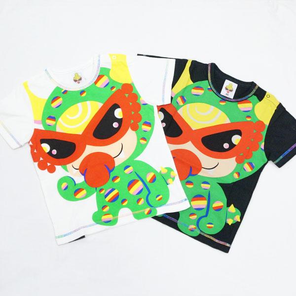 【2018秋冬  HYSTERIC MINI】ヒステリックミニ PARTY MONSTER エンジェルコット 半袖Tシャツ(80・90cm)