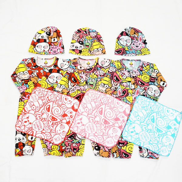 【2018秋冬  HYSTERIC MINI】ヒステリックミニ CHITTY CHITTY BABY総柄 2wayオールセット(FREE)