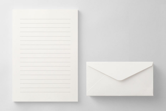 PAPER A011 便箋・封筒セット(横書き用)