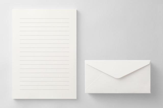 PAPER A012 便箋・封筒セット(横書き用)