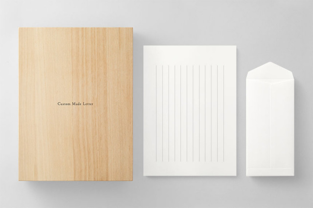 PAPER C012 便箋・封筒セット 箱つき(縦書き用)