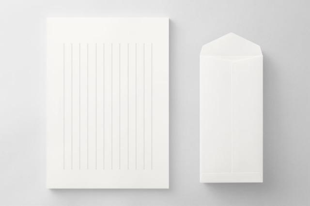 PAPER C012 便箋・封筒セット(縦書き用)