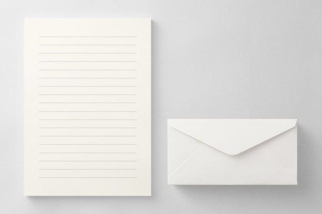 PAPER D011 便箋・封筒セット(横書き用)