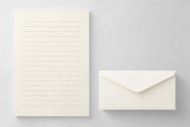PAPER D012 便箋・封筒セット(横書き用)