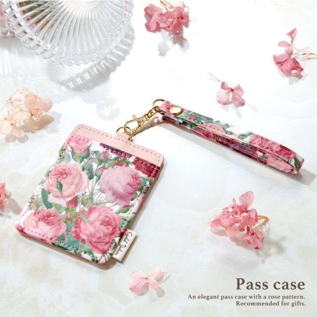 ルドゥーテ パスケース / レディース かわいい 花柄 バラ柄 ローズ おしゃれ ギフト プレゼント