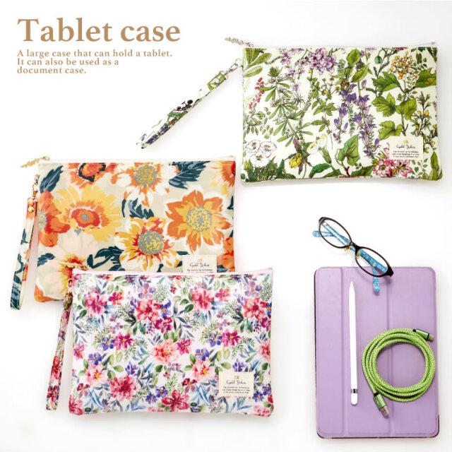 タブレット ケース / 10.9インチ 対応 iPad 軽量 インナーケース バッグインバッグ ドキュメントケース フラットポーチ クラッチバッグ レディース かわいい 花柄 おしゃれ ギフト プレゼント お祝い