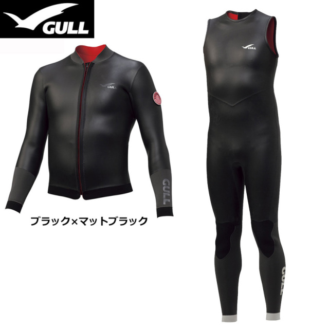 GULL(ガル)3mm SKINタッパーGW-6634&SKINロングジョンGW-6635上下セット