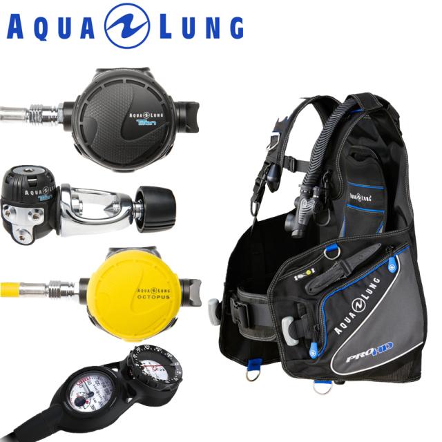 クーポン10%OFF対象 ダイビング重器材セットAQUALUNG(アクアラング)セット