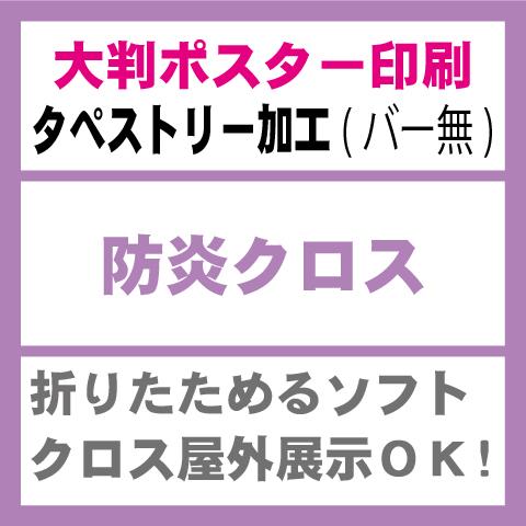 防炎クロス-タペストリー印刷(バー無し)