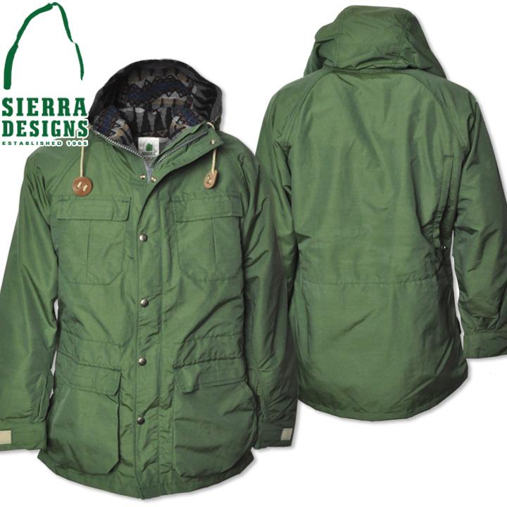 SIERRA DESIGNS (シエラデザインズ) PENDLETON LINED MOUNTAIN PARKA ペンドルトンラインドマウンテンパーカー 7922 Green