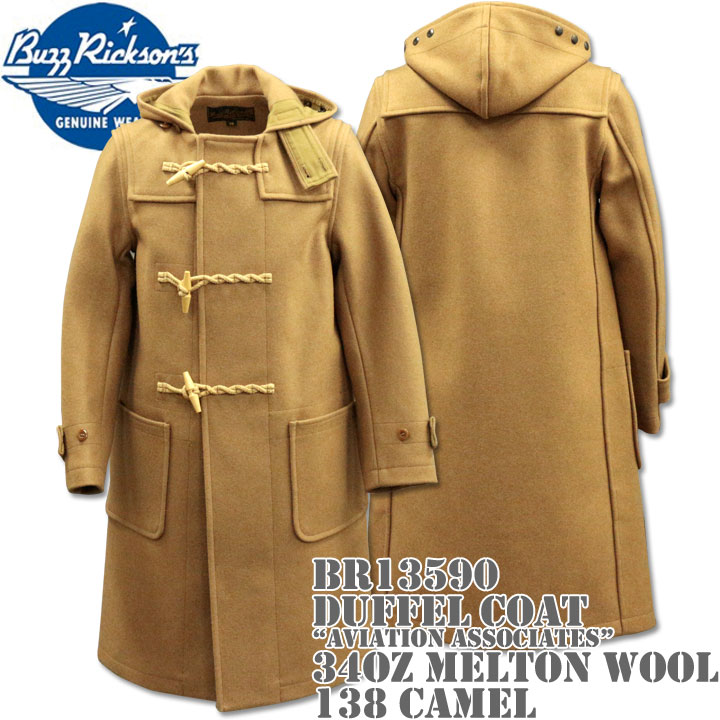 BUZZ RICKSON'S ( バズリクソンズ ) Duffel Coat ( ダッフルコート ) 34oz Melton Wool 『 Aviation Associates 』 BR13590-138 Camel