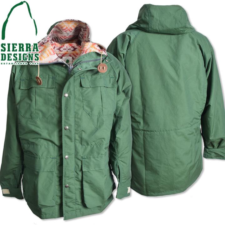SIERRA DESIGNS (シエラデザインズ) PENDLETON T&E MOUNTAIN PARKA ペンドルトンT&Eマウンテンパーカー 7924 Green
