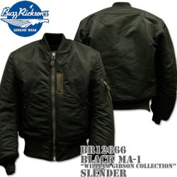 BUZZ RICKSON'S(バズリクソンズ)BLACK MA-1 SLENDER(REGULAR)『WILLIAM GIBSON COLLECTION』BR12666