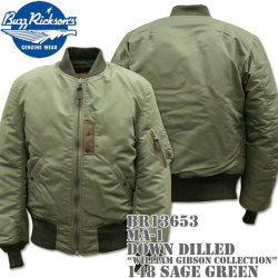 BUZZ RICKSON'S(バズリクソンズ) MA-1 DOWN FILLED『WILLIAM GIBSON COLLECTION』BR13653-148 Sage Green