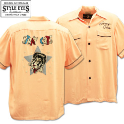 Stray Cats × Style Eyes Bowling Shirt Limited Edition SE38204-162 Pink