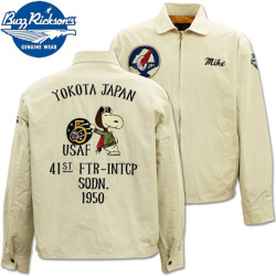 BUZZ RICKSON'S(バズリクソンズ)BUZZ RICKSON'S × PEANUTS バズリクソンズ×ピーナッツ『SNOOPY TOUR JACKET』BR14569-105 Off White