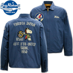 BUZZ RICKSON'S(バズリクソンズ)BUZZ RICKSON'S × PEANUTS バズリクソンズ×ピーナッツ『SNOOPY TOUR JACKET』BR14569-128 Navy