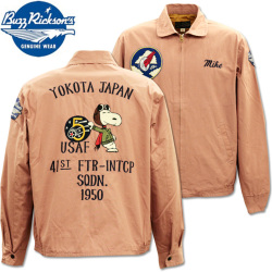 BUZZ RICKSON'S ( バズリクソンズ ) BUZZ RICKSON'S × PEANUTS バズリクソンズ×ピーナッツ 『 SNOOPY TOUR JACKET 』 BR14569-162 Pink