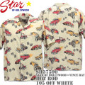 Star OF HOLLYWOOD × VINCE RAY(スターオブハリウッド×ヴィンス・レイ)Open Shirt『HOT ROD』SH37590-105 Off White