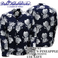 Duke Kahanamoku(デューク カハナモク) アロハシャツ SPECIAL EDITION DUKE'S PINEAPPLE L/Sleeve Navy DK26793-128