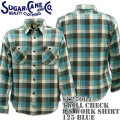 Sugar Cane ( シュガーケーン ) TWILL CHECK L/S WORK SHIRT SC27064-125 Blue