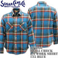 Sugar Cane ( シュガーケーン ) TWILL CHECK L/S WORK SHIRT SC27066-125 Blue