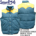 Sugar Cane ( シュガーケーン ) LEATHER YOKE DOWN VEST SC12340-125 Blue