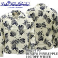 Duke Kahanamoku ( デューク カハナモク ) アロハシャツ 『 SPECIAL EDITION DUKE'S PINEAPPLE L/Sleeve 』 DK26793-105 Off White