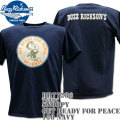 BUZZ RICKSON'S(バズリクソンズ)スヌーピーコラボTシャツ BR×PEANUTS RINGER TEE『GET READY FOR PEACE』BR77286-128 Navy