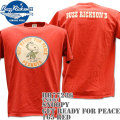 BUZZ RICKSON'S(バズリクソンズ)スヌーピーコラボTシャツ BR×PEANUTS RINGER TEE『GET READY FOR PEACE』BR77286-165 Red