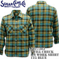 Sugar Cane ( シュガーケーン ) TWILL CHECK L/S WORK SHIRT SC27383-125 Blue
