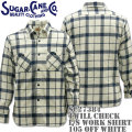 Sugar Cane(シュガーケーン)TWILL CHECK L/S WORK SHIRT SC27384-105 Off White
