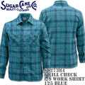 Sugar Cane(シュガーケーン)TWILL CHECK L/S WORK SHIRT SC27384-125 Blue