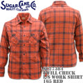 Sugar Cane(シュガーケーン)TWILL CHECK L/S WORK SHIRT SC27384-165 Red